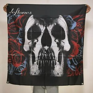 Deftones Band Banner Album Cover Tapestry Skull Logo Flag Art Poster 4x4 ft