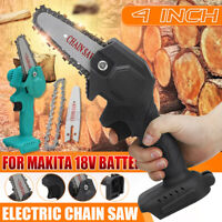 4 inch Mini Electric Chain Saw Wood Cutter Cordless Body For Makita 18V