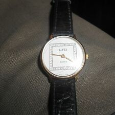 womans Alfex watch(2 hairline cracks in glass )