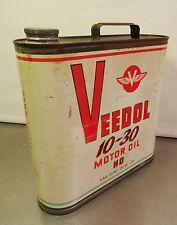 vintage oldtimer oil can - Antike leere Veedol Oeldose Oelkanne Öl Kanne Deko