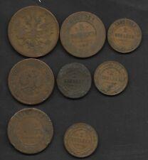 Russian Empire 19th Century Copper Coins, includes scarce 1892 2 kopecks