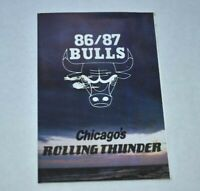 1986-87 NBA Pocket Schedule Chicago Bulls Basketball