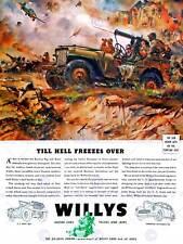 Anuncio De Guerra Jeep transporte BATALLA STALINGRADO Infierno posterprint BB7749B de la Segunda Guerra Mundial Usa