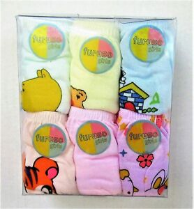 Baby Girls Underwear Panties Pack of 6 Kids Girls Brief Style Panty Underwear