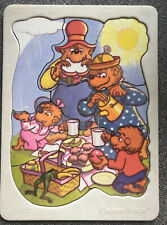 Vintage BERENSTAIN BEARS Perfect Picnic Spot Plastic Tray Puzzle FP 1982 RARE!