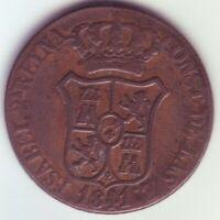 Monete 6 Quarti Isabel II - Anno 1841 - Catalogna - Barcelona