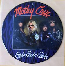 "EX! MOTLEY CRUE GIRLS GIRLS GIRLS 1985 12"" VINYL PIC PICTURE DISC"