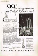 1929 Los Angeles Bureau Of Power and Light Vtg Print Ad