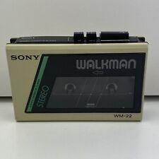 Sony Walkman WM- 22 Vintage Personal Cassette Player (Works Perfect)
