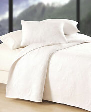 Pure White Shell * King * Quilt Set : Cotton Matelasse Beach House Comforter
