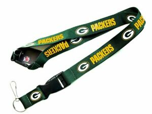 """2 Pack - Nfl Lanyard Green Bay Packers 18"""" 100% Polyester"""