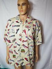 Rare Dale Earnhardt Jr. Nascar Racing All Over Print Hawaiian Shirt Mens XL New