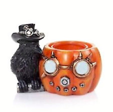 Yankee Candle Steam Pumpkin Punkin Raven Halloween Tea Light Candle Holder New