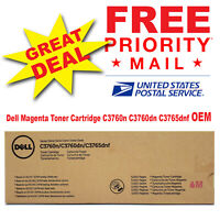 Dell Genuine Magenta Toner Cartridge C3760n C3760dn C3765dnf OEM 5,000 Pages