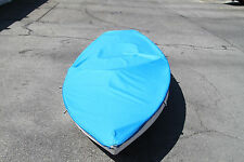 Sunfish Sailboat Top Deck Cover made from Polyester Blue W/ Zig Zag Seams