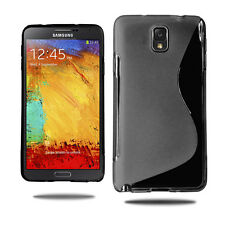 For Samsung Galaxy Note 3 III N9000 N9005 Grip S Line Wave Gel Skin Case Cover