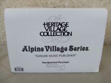 Dept 56 Danube Music Publisher in Box ~ 56173 Retired Alpine Village Building