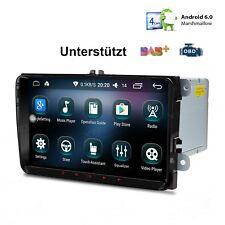 "Android 6.0 Autoradio 9"" GPS Navi DAB+ WiFi 4G AUX für VW Golf Passat Skoda Seat"