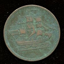 Ships Colonies and Commerce Half Penny Token BR#997 - CH PE-10-46 - Fine/Fine+