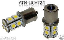 Set 6Volt Pkw LED Lampe Xenon Weiß 13 SMD Oldtimer Sockel BA15S 10W 15W = >1.6W