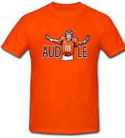 """Peyton Manning Denver Broncos """"Audible"""" Jersey T-shirt Shirt ORANGE"""