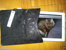 NWT$395 MARC JACOBS Quilted Leather iPad Tablet Cover Case Sleeve Black Dustbag