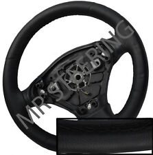 FITS ROVER 75 98-05 BEST QUALITY BLACK ITALIAN LEATHER STEERING WHEEL COVER