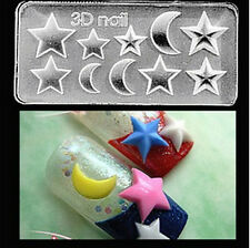 3D Nail Art Acrylic Mold Moon Star Shape DIY Manicure Tips Tools Decoration-72