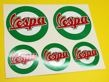 VESPA SCOOTER ITALIAN FLAG ROUNDELS x 5 stickers decal set Flag Piaggio