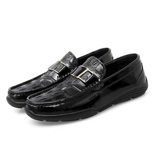 Mens Business Leisure Shoes Pumps Slip on Loafers Driving Moccasins Comfy Casual