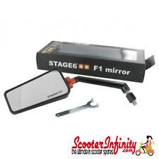 Mirror F1 Stage 6 Left Hand Black - Vespa ET LX LXV GTS GTS Super GTV GT GT L