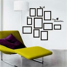 Wall Sticker 10 Photo Frame Removable Art Decals Bedroom Home DIY Decor Stickers