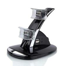 Dual USB Charger LED Charging Docking Station Stand for Sony PS3 Controller &&