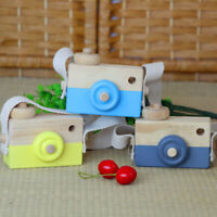 Children Room Wood Camera Decor Natural Safe Wooden Toy Painted Nursery Toys