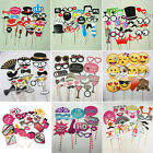 Photo Booth Prop Emoji Mask Glass Mustache On A Stick Bridal Party Wedding Decor