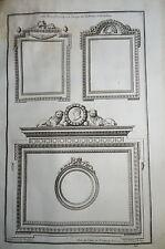 J-C.DELAFOSSE (1734-1789) GRAVURE XVIII° ORNEMENT LOUIS XVI NEOCLASSIQUE CADRE