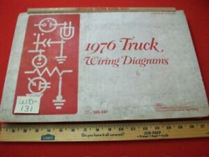 """VINTAGE 1976 FORD """"LIGHT TO HEAVY DUTY"""" TRUCKS ELECTRICAL WIRING DIAGRAMS MANUAL"""
