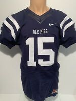 NEW Ole Miss Rebels Nike Authentic Team Issue Football Jersey #15 Men's Medium