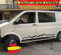 Kit Laterales Adhesivas Decal sticker Vinilo Furgo Camper Montañas T4VW 218x31cm