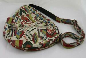 "Ameribag Healthy Back Bag Aztec Multi-Compartment Travel Shoulder Purse 17"""