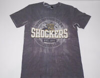 WICHITA STATE UNIVERSITY SHOCKERS Logo NCAA WSU WuSHOCK Grey T-SHIRT Size SMALL