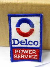 "VINTAGE "" DELCO SERVICE"" SEW ON FABRIC PATCH 2"" W BY 3"" H TALL OLD STOCK"