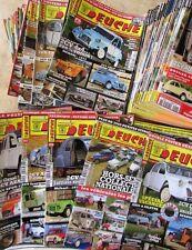 2 CV , DEUCHE , planète 2cv ... ,magazine automobile. GROS LOT 79 revues , TBE .