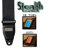 Stealth Tune Guitar strap with built in tuner, No Plug ins required!!