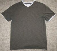 Unbranded Gray Short Sleeve Cotton Womens Crewneck Tee T-Shirt Medium Womans Top