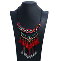 Bohemian Necklaces Vintage Ethnic Boho Jewelry for Women Big Tribal Pendant