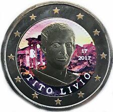 2 euro Italia 2017 Tito Livio colorata