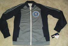 New York City Mls Adidas Soccer Zip up Treck Jacket sz. Adult Small -New w Tags-