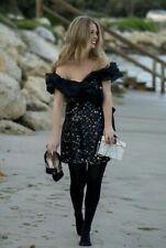 ZARA BLACK SEQUIN DRESS SIZE MEDIUM RRP £59.99