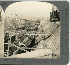 WW1, Four Submarines in Dry Dock, Navy Yard--Keystone #W210